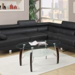 modern black sectional sofa set chaise leather couch f7310