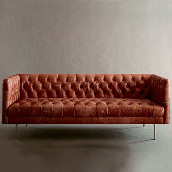 modern chesterfield leather sofa 79 in 2019 lately