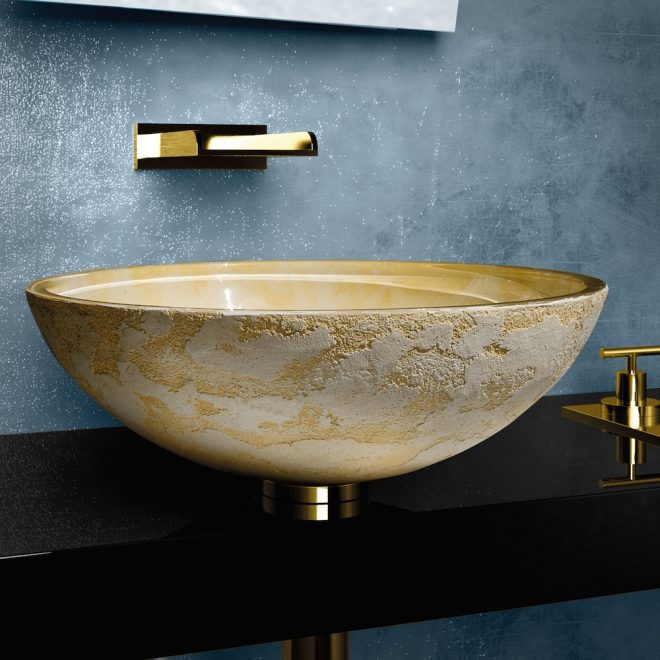 modern dual textured bathroom sink