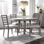 modern farmhouse 5 piece round table and chair set liberty furniture at royal furniture