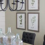 modern farmhouse dining room diy shiplap dining wall