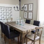 modern farmhouse dining room diy shiplap home sweet home