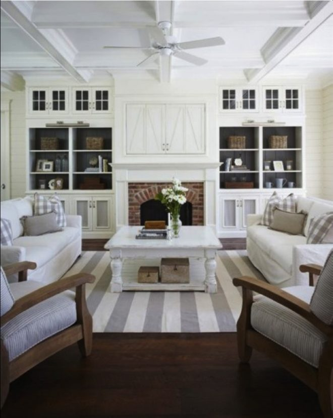 modern farmhouse family room and kitchen reveal living room