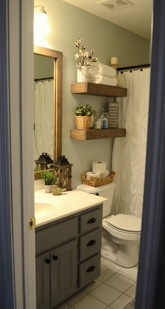 modern farmhouse inspired bathroom makeover one room one