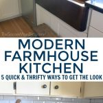 modern farmhouse kitchen 5 thrifty ways to get the look the