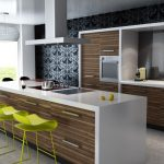 modern kitchen ideas color schemes with wood cabinets best white