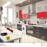 modern kitchen interior stock photo image of marble 13183106