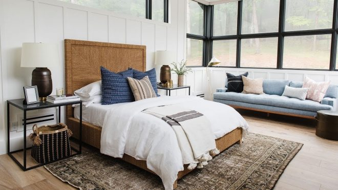 modern lake house video tour the bedroom wing