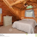 modern log house bedroom stock photo image of bedroom