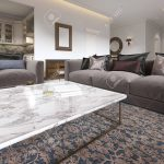 modern luxury living room interior with a sofa armchairs a