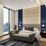 modern master bedroom styled with royal blue hues dream bedrooms