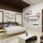 modern master bedroom with false ceiling design kerala