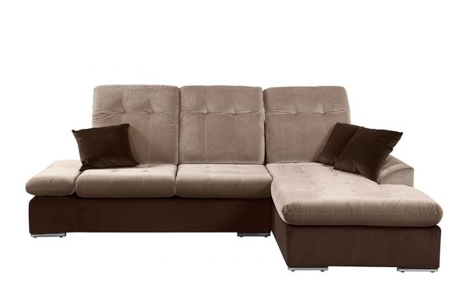 modern microfiber sectional sofa with chaise l shape couch brown