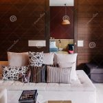 modern room with colourful asian sofa couch fabric pillows