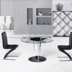 modern round dining room table furniture design rotating centre dining table tempered glass top swivel dining table set buy round dining table with