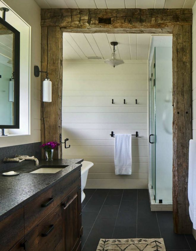 modern rustic log cabin preserves historic charm in