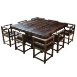 8 Chair Square Dining Table Opnodes