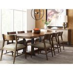 modern synergy contemporary formal dining room group with rectangular table american drew at lindys furniture company