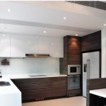 modern two tone cabinets modern kitchen design