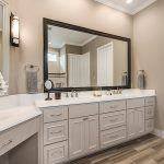 modern white bathroom remodel euro design build
