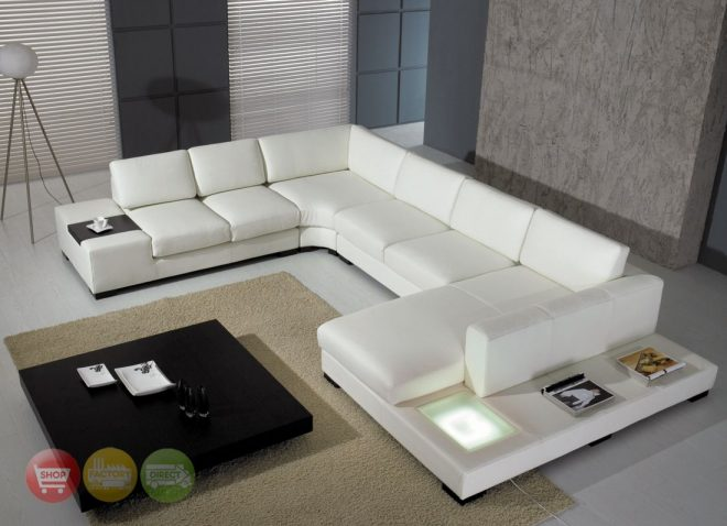 modern white bonded leather sectional sofa t35 contemporary
