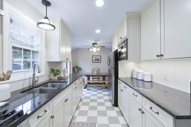 modern white galley kitchen rhode kitchen bath design build