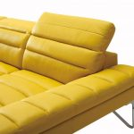 modern yellow italian leather sectional sofa vig divani casa