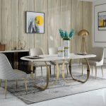 modrest haven modern marble dining table