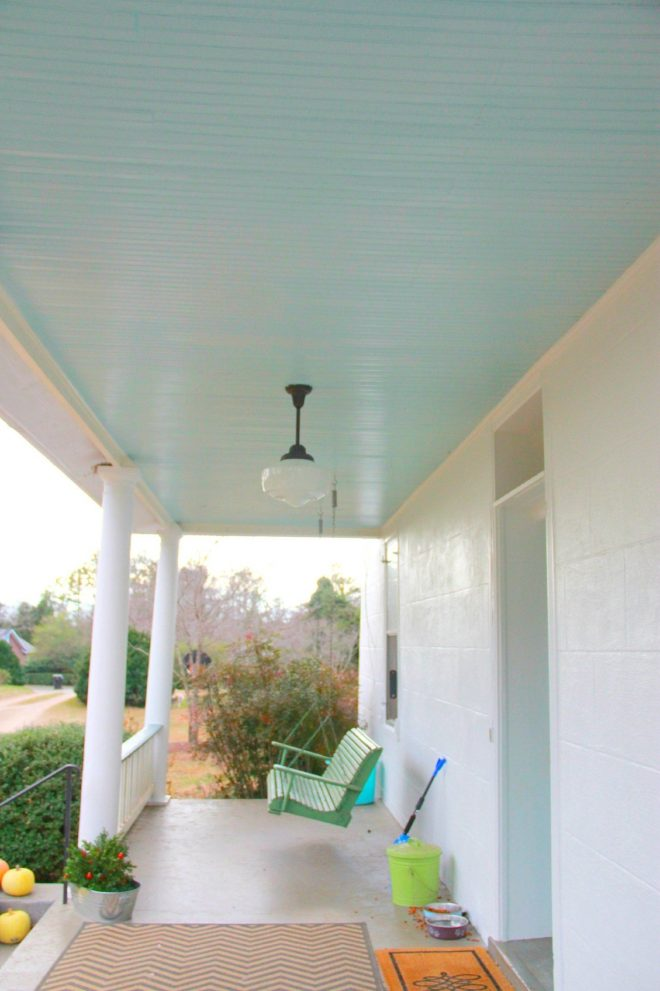 monday makeover the newold white house haint blue porch