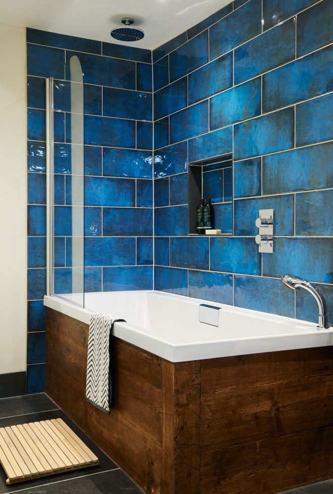 montblanc blue ceramic tile decor bathroom bohemian bathroom