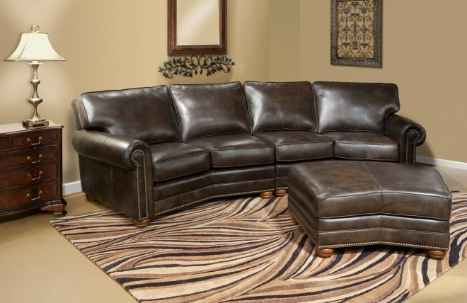 monte carlo collection angled leather sectional sofa be