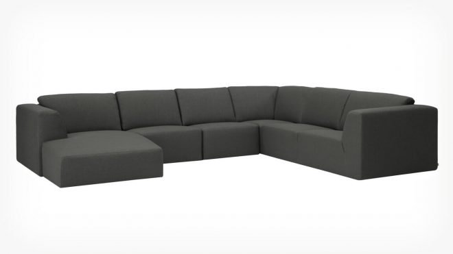morten morten 6 piece sectional sofa with chaise fabric eq3