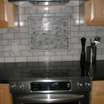 mosaic miniature subway tile accent piece with pencil edge