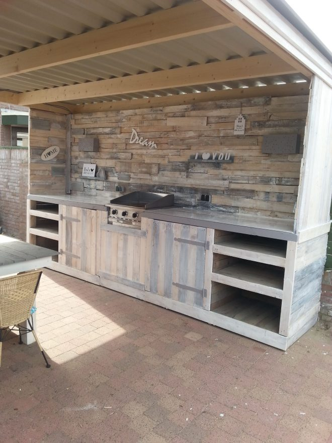 must see pallet outdoor dream kitchen recycled pallets ideas