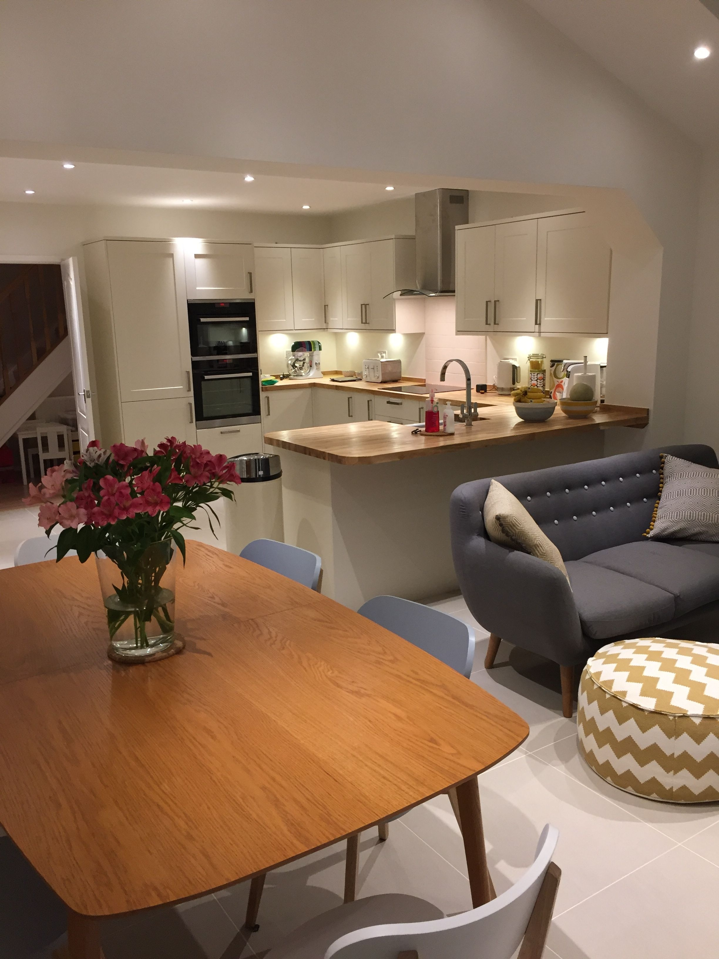 my open plan kitchen dining and family area cocinas in 2018
