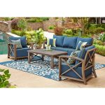 nantucket 4 piece seating set indigo patio furniture sets