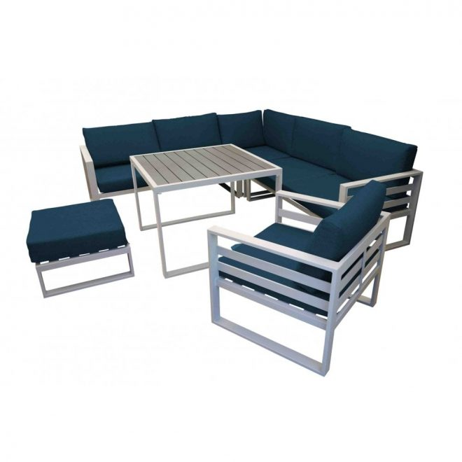 napoli modular dining set with lounge chair footstool