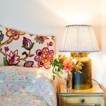 nehru floral multi upholstered headboard king double single size contemporary design home accessories sarah fortescue