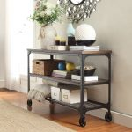 nelson industrial modern rustic console sofa table tv stand inspire q classic