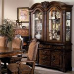 neo renaissance buffet and hutch with two glass doors crown mark at royal furniture