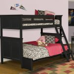 new classic furniture tamarack black twin over full bunk bed