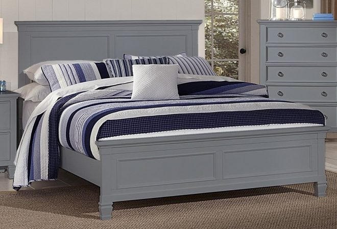 new classic furniture tamarack king bed in gray