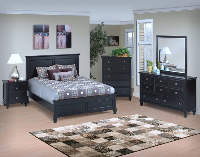 new classic tamarack bedroom set in black