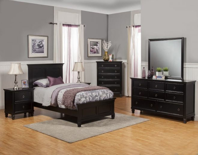 new classic tamarack youth bedroom set in black