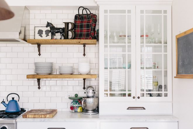 new kitchen open shelving remodeling trend apartment therapy