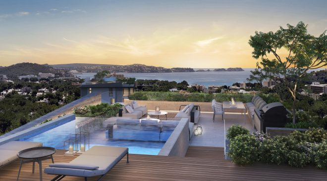 new penthouses with swimming pools luxury resort 8416