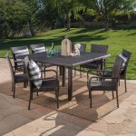 noble house multi brown 9 piece wicker square outdoor dining set