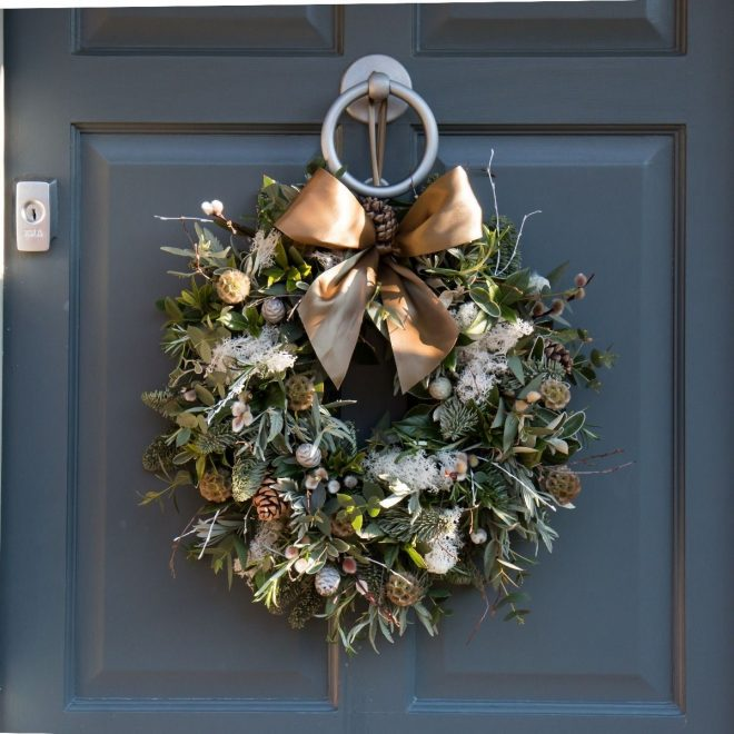 nordic foliage door wreath christmas wreaths christmas