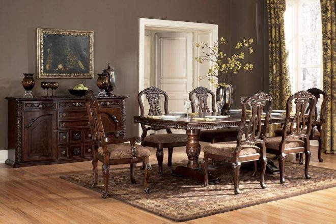 north double pedestal table 4 side chairs 2 arm chairs home
