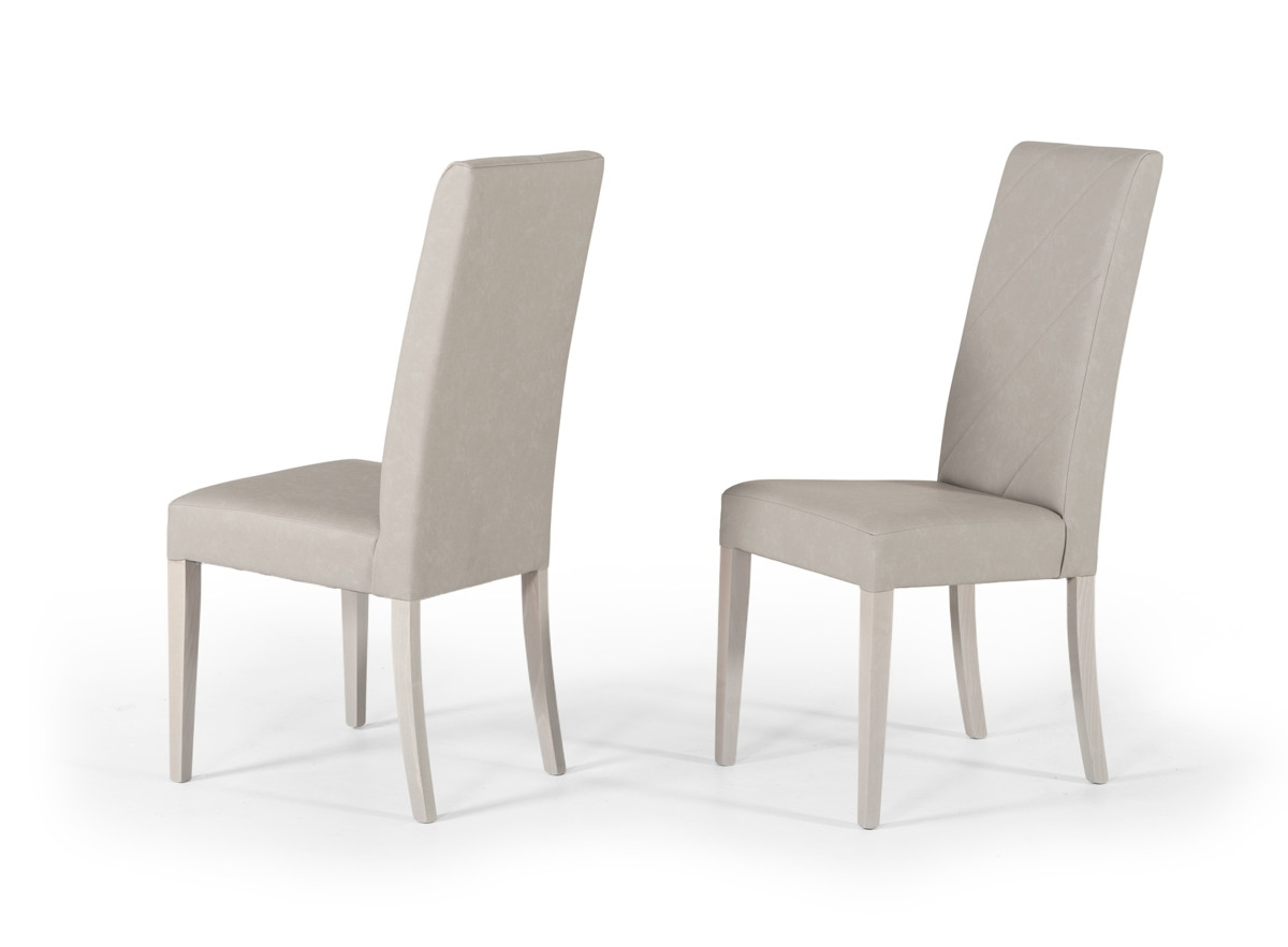 nova domus alexa italian modern grey dining chair set of 2
